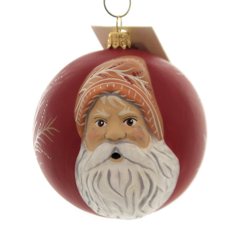 Holiday Ornaments GINGER BREAD FATHER CHRISTMAS Vaillancourt Jingle Ball Or19510