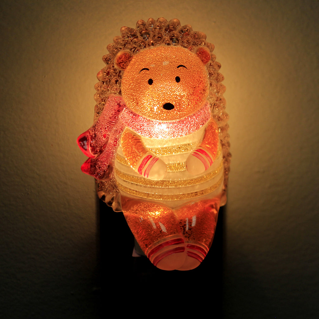 Home Decor HEDGEHOG NIGHTLIGHT Acrylic Scarf Whimisical 146235