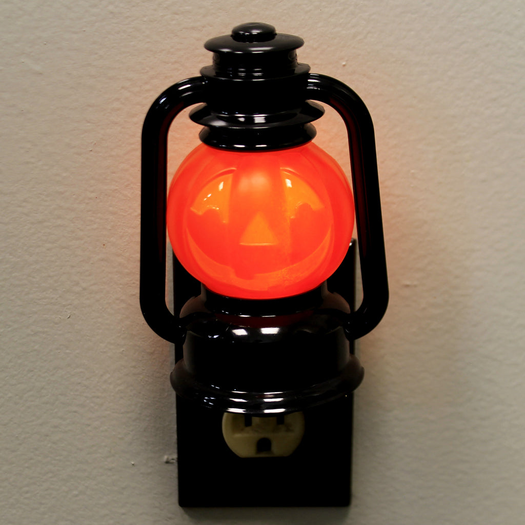 Halloween JACK-O-LANTERN NIGHT LIGHT Acrylic Flicker Light 167555