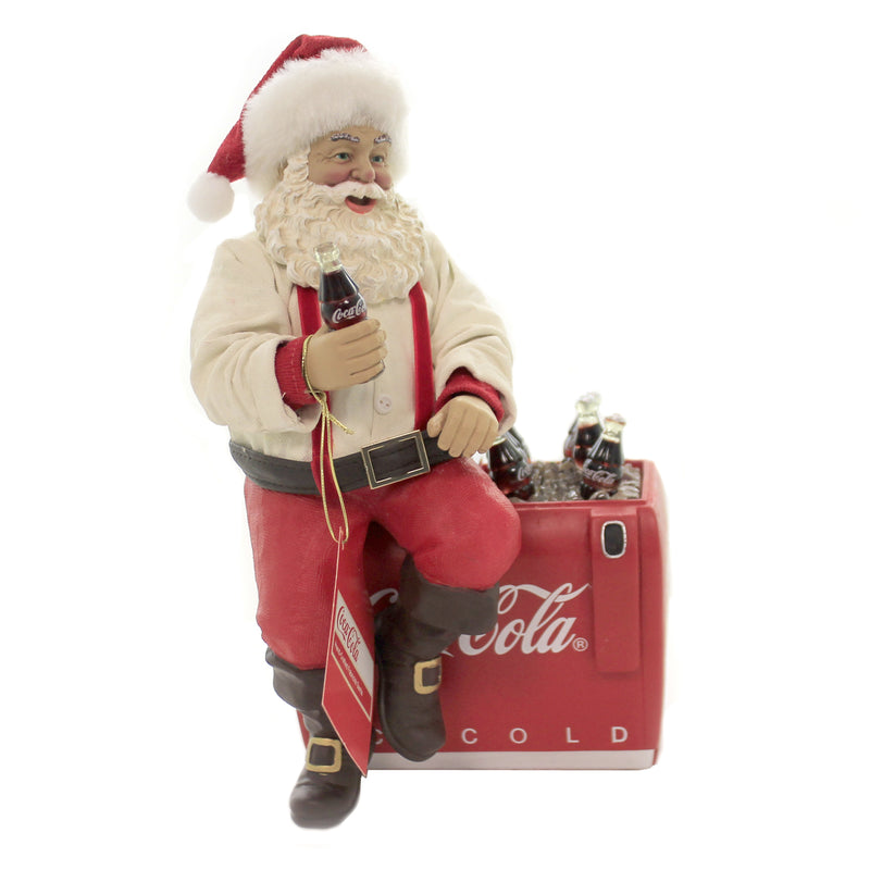 Christmas COCA-COLA SANTA ON COOLER Fabric Fabriché Ice Cold Drink Cc5191