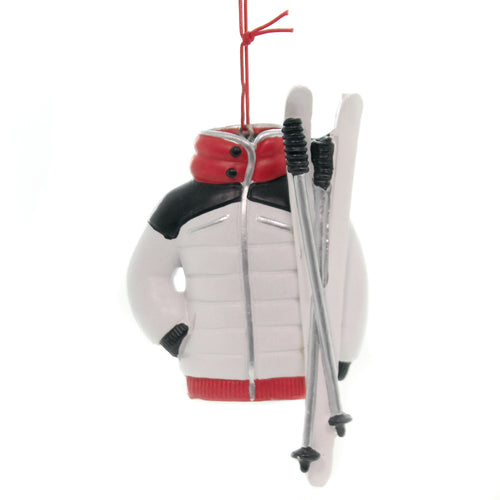 Holiday Ornaments SKI JACKET Polyresin Snow Slopes Christmas J8566