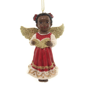 Holiday Ornaments AFRICAN AMERICAN ANGEL. Christmas Black Child E0346 Book