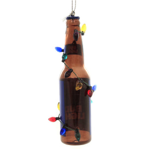 Holiday Ornaments BUD LIGHT BOTTLE w/ BULBS Ornament St Louis Beer Inbev Ab1191