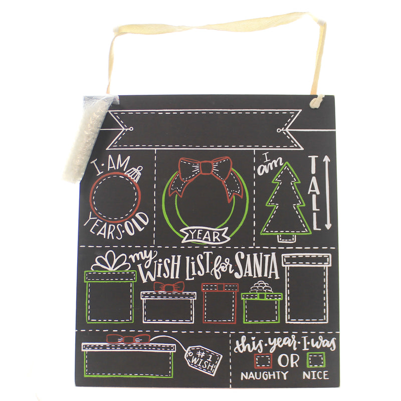Christmas MILESTONE BOARD CHRISTMAS Wood Chalkboard Wish List 39057