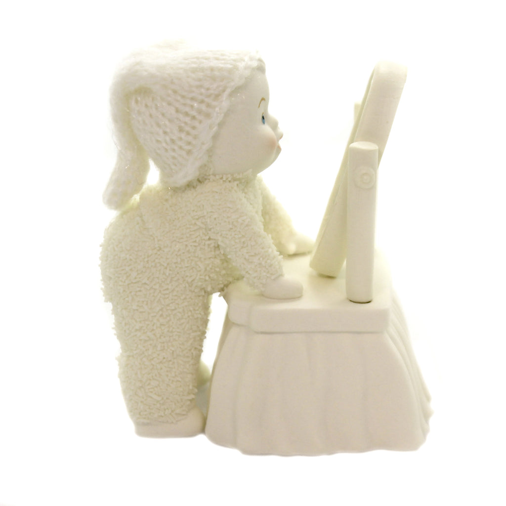 Dept 56 Snowbabies LIKE WHAT YOU SEE Porcelain Mirror 6003485