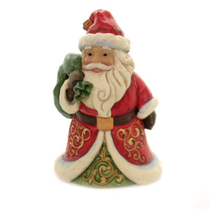 Jim Shore BE TRUE & BELIEVE Polyresin Pint Size Santa 6004291