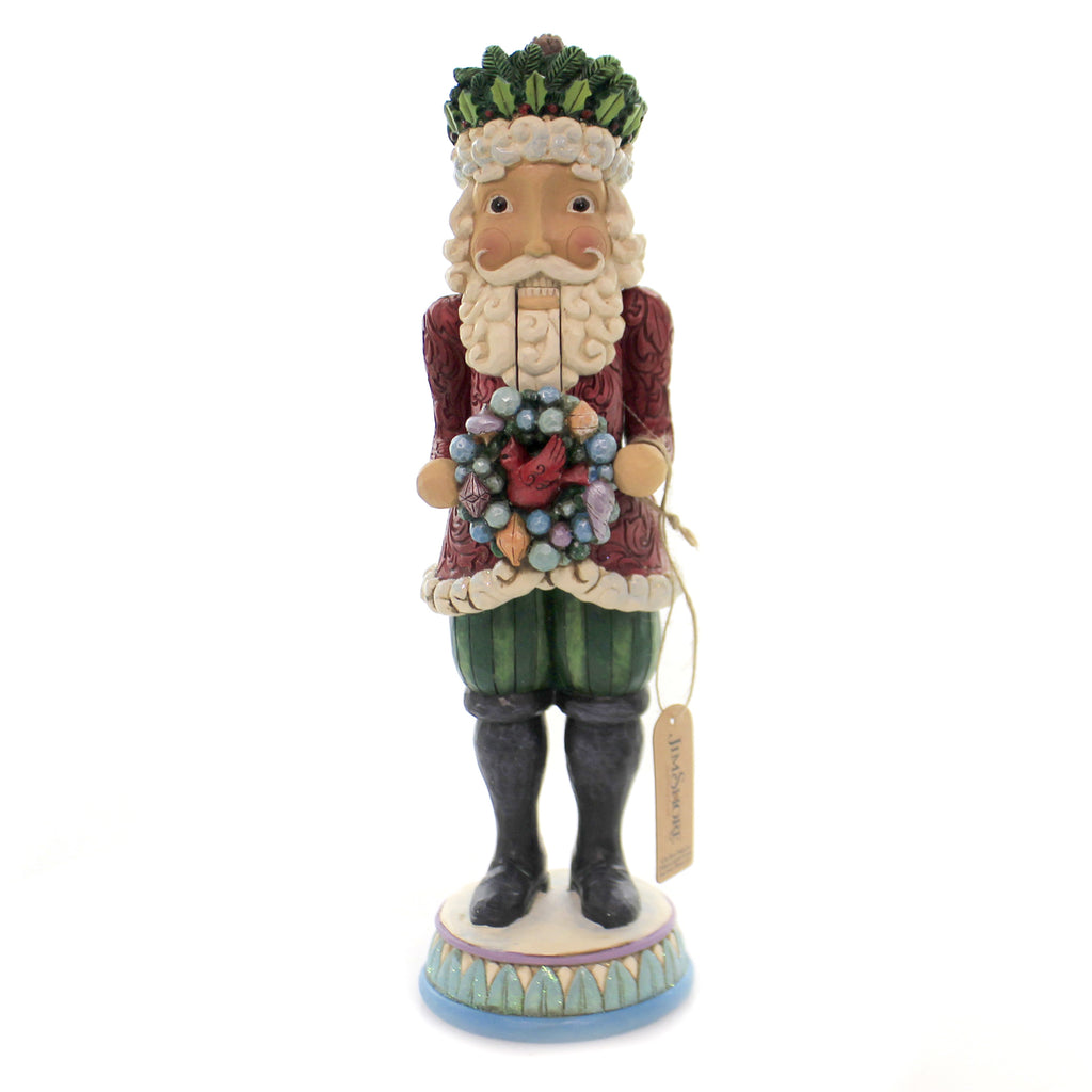 Jim Shore WINTER'S WARM WONDERS Polyresin Santa Nutcracker 6004190