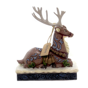 Jim Shore CALM BEFORE THE EVE Polyresin Victorian Reindeer 6004180