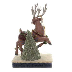 Jim Shore ADVENTURE BOUND Polyresin Victorian Reindeer 6004181