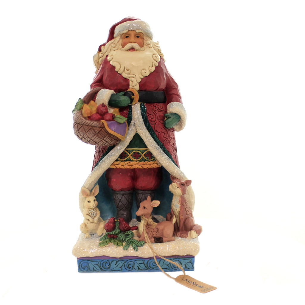 Jim Shore A FESTIVE FORAGE Polyresin Santa Animals 6004189