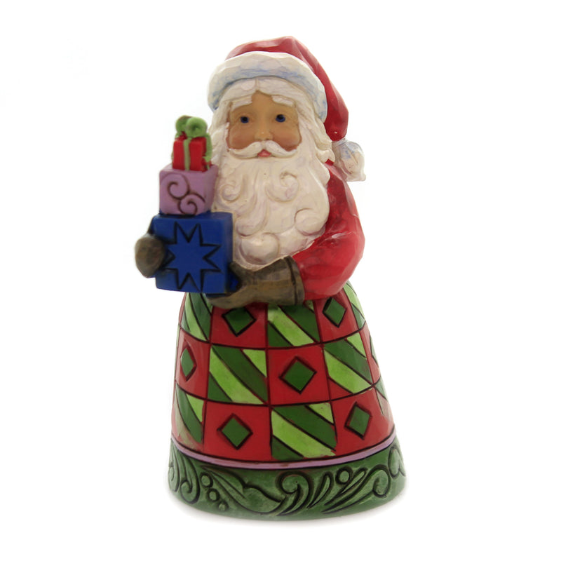 Jim Shore DELIVERED WITH LOVE Polyresin Santa Stack Of Gifts 6004290