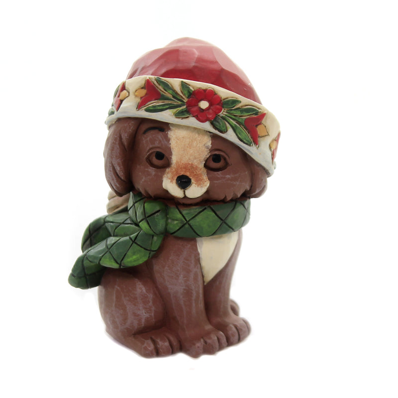 Jim Shore MINI CHRISTMAS PUPPY Polyresin Dogs Canine Holiday 6004296