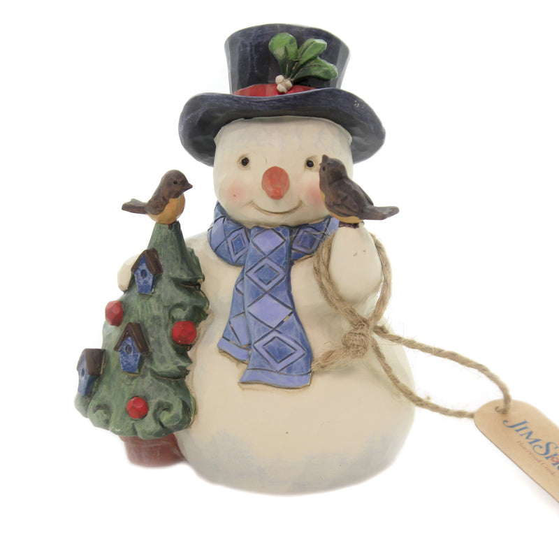 Jim Shore HELLO WINTER Polyresin Christmas Birds Tree 6004289