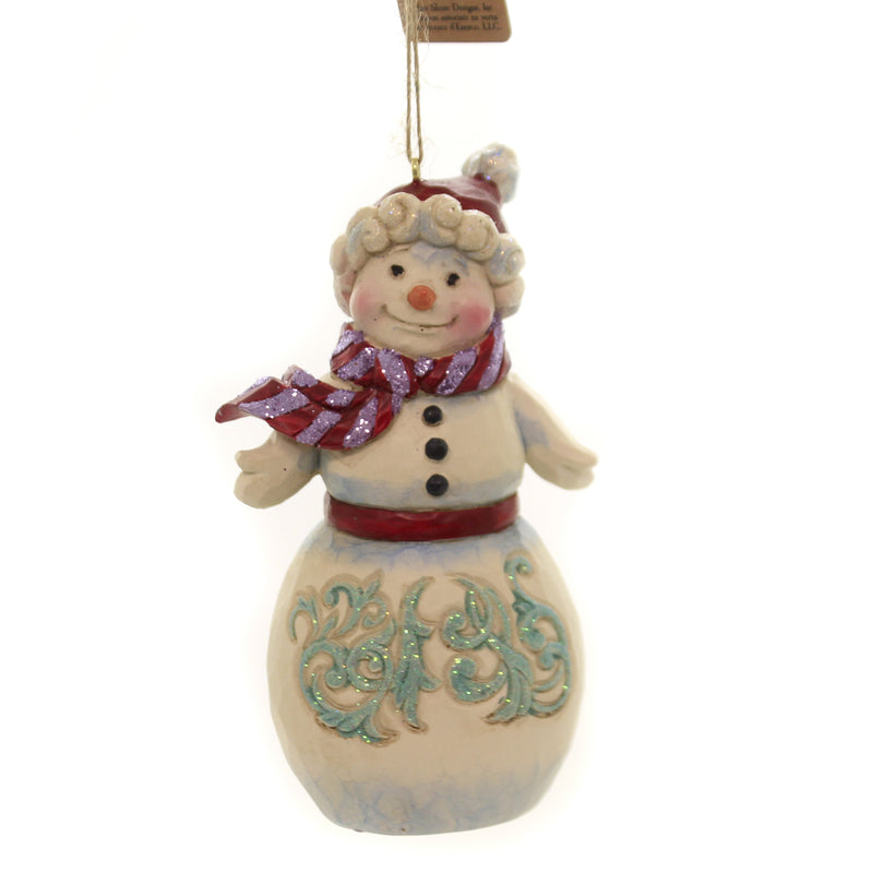 Jim Shore WINTER WONDERLAND SNOWMAN. Polyresin Ornament 6004194