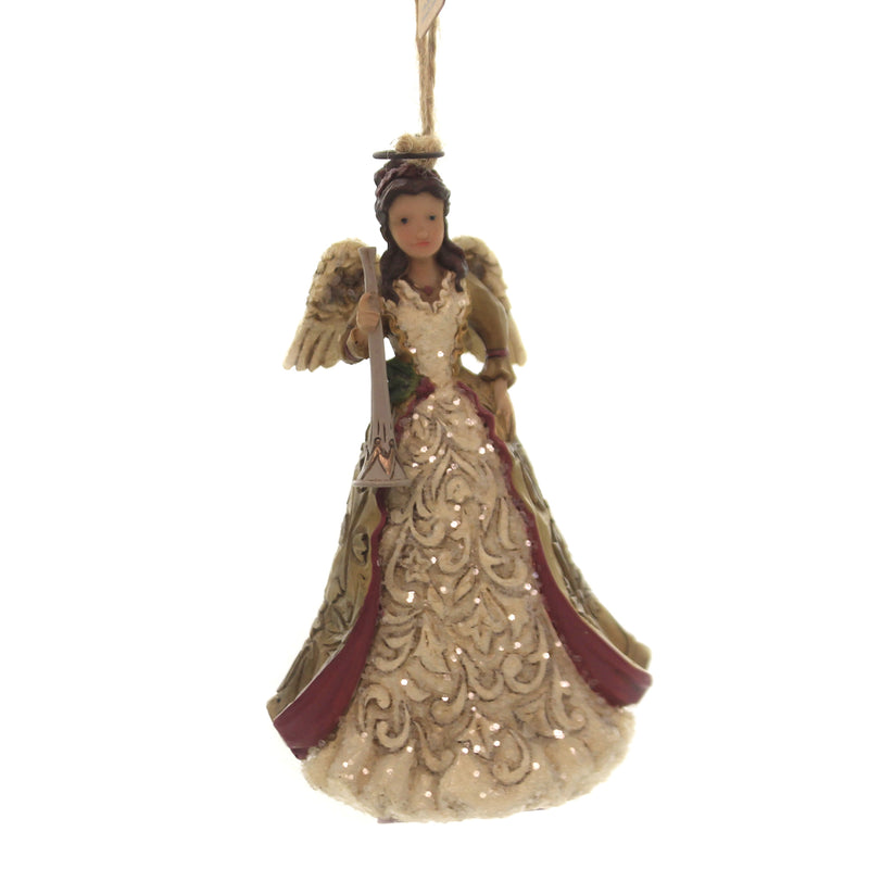 Jim Shore VICTORIAN ANGEL WITH HORN Polyresin Ornament 6004186