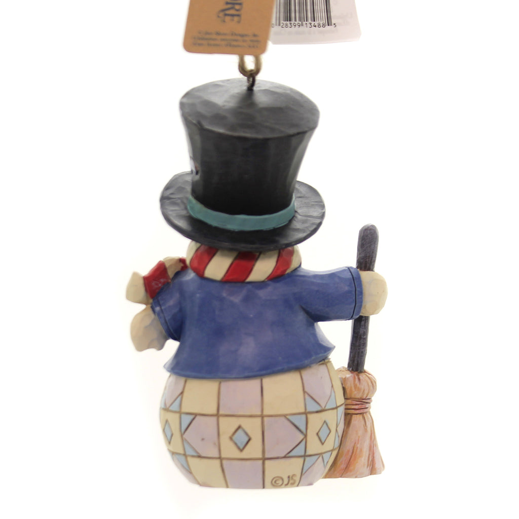 Jim Shore SNOWMAN WITH TOP HAT. Polyresin Ornament 6004313