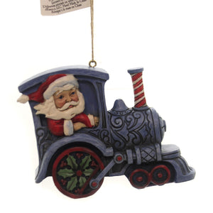 Jim Shore SANTA IN TRAIN ENGINE Polyresin Ornament 6004311
