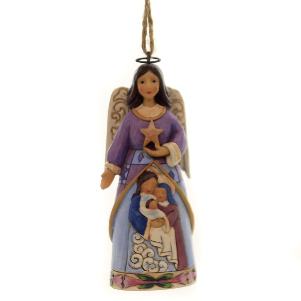 Jim Shore ANGEL WITH HOLY FAMILY Polyresin Nativity Baby Jesus 6004316