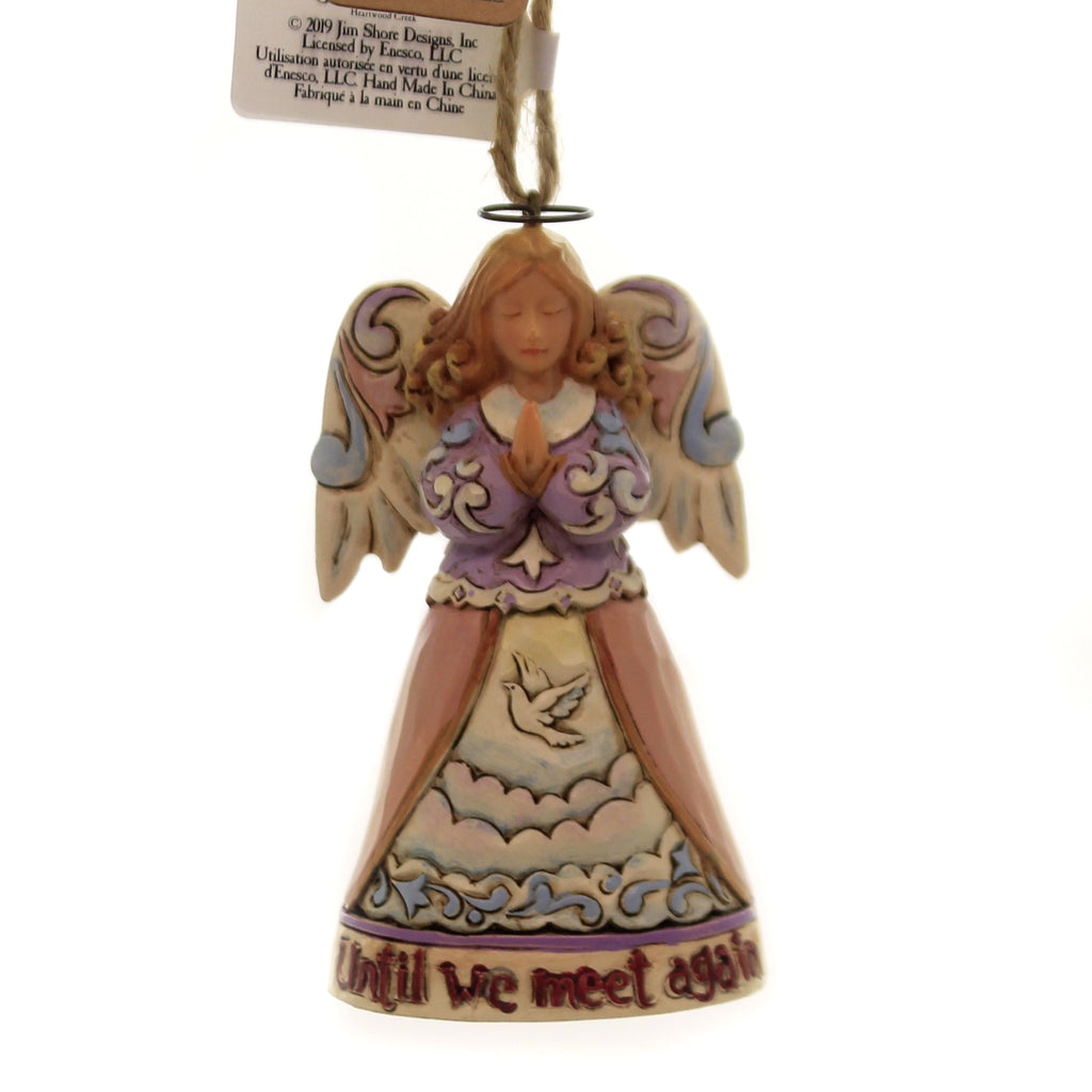 Jim Shore BEREAVEMENT ANGEL ORNAMENT Polyresin Mini Until We Meet Again 6004318