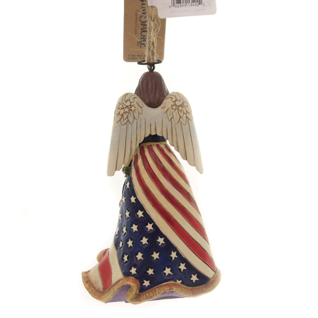 Jim Shore PATRIOTIC ANGEL ORNAMENT. Polyresin USA Flag 6004317