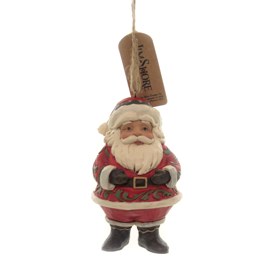Jim Shore JOLLY SANTA MINI ORNAMENT Polyresin Christmas St Nick 6004310