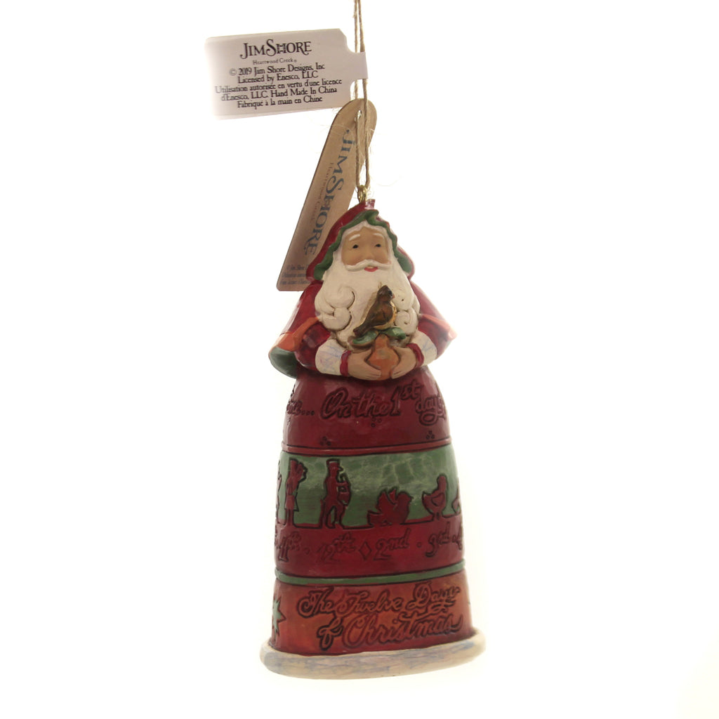 Jim Shore 12 DAYS OF CHRIATMAS SANTA Ornament On The First Day 6004300