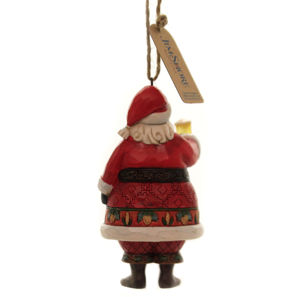 Jim Shore CRAFT BEER SANTA Polyresin Christmas Ornament Mug 6004304
