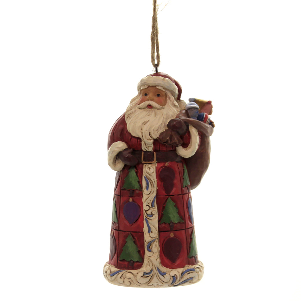 Jim Shore SANTA WITH TOY BAG Polyresin Christmas Ornament 6004302