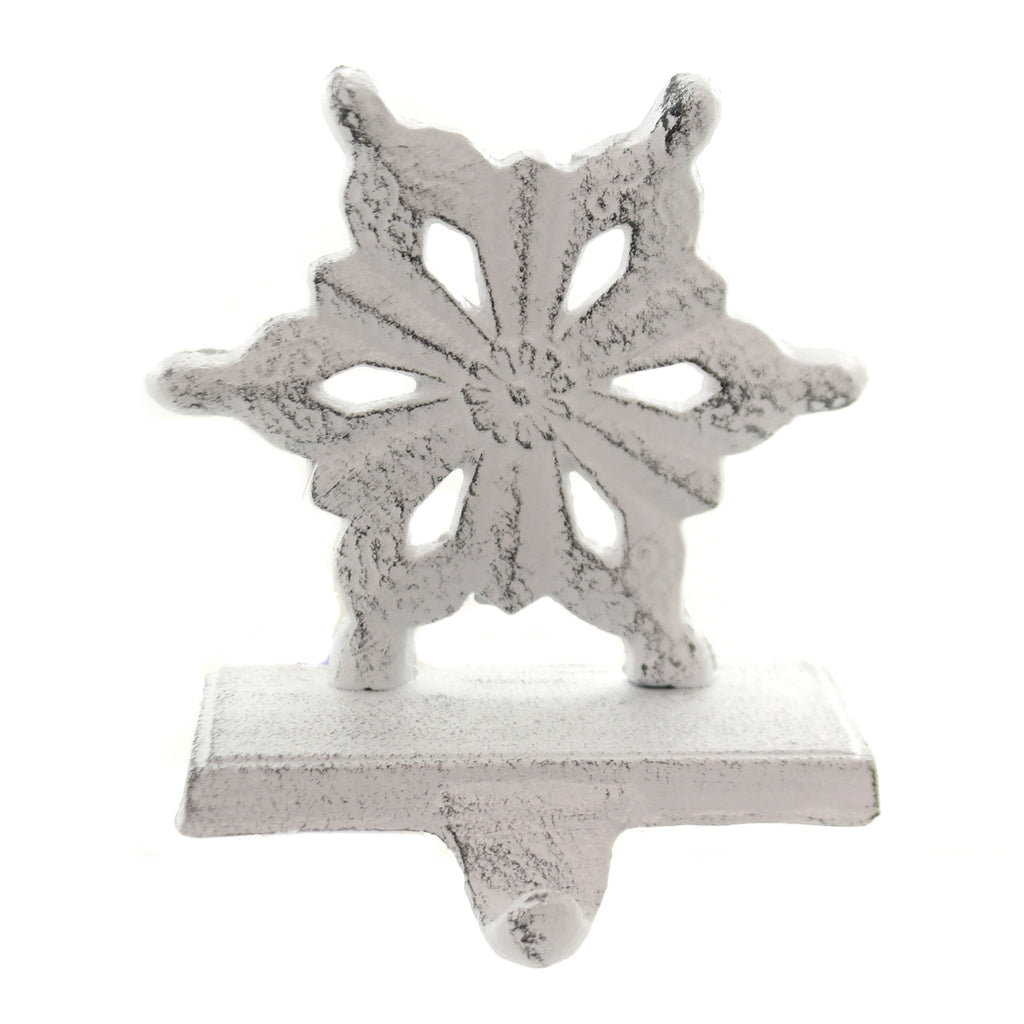 Christmas SNOWFLAKE STOCKING HOLDER Metal Cast Iron Y5096 C