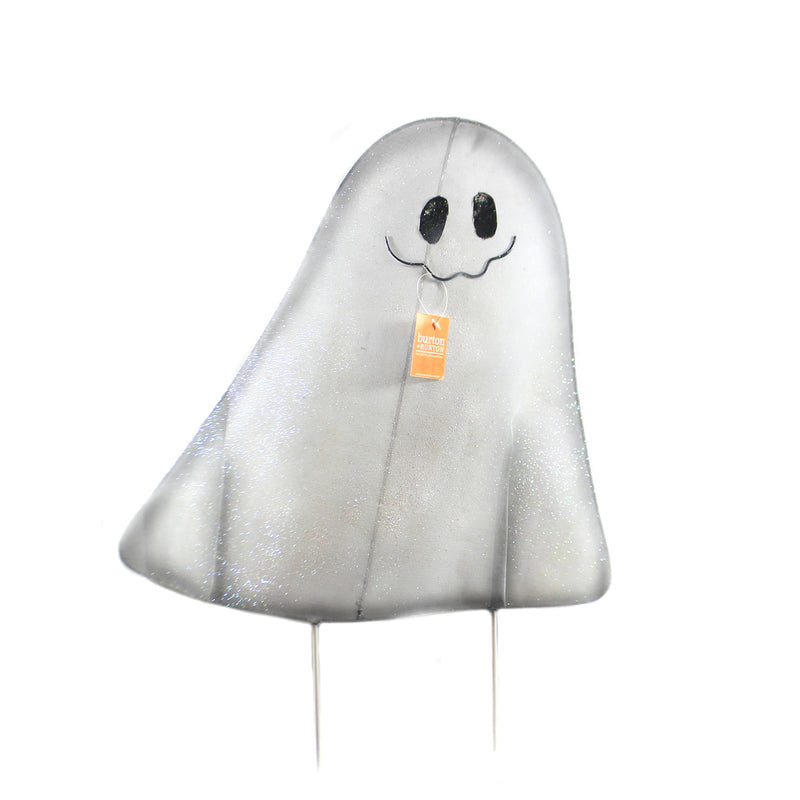 Halloween MESH GHOST YARD STAKE MED Wire Outside Decor 9733723 Med