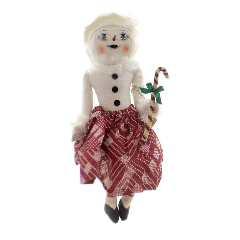 Joe Spencer STEFFIE SNOW GIRL Fabric Christmas Candy Cane Fgs75051