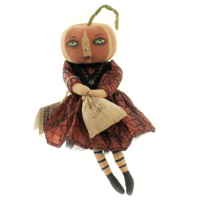 Halloween TATUM PUMPKIN GIRL Fabric Bag Of Seeds Halloween Fgs71644