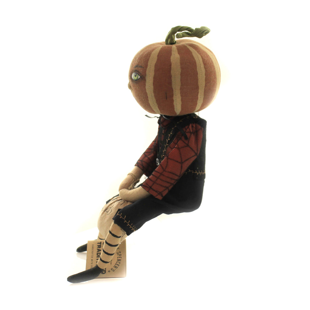 Halloween TODD PUMPKIN BOY Fabric Bag Of Seeds Halloween Fgs71645