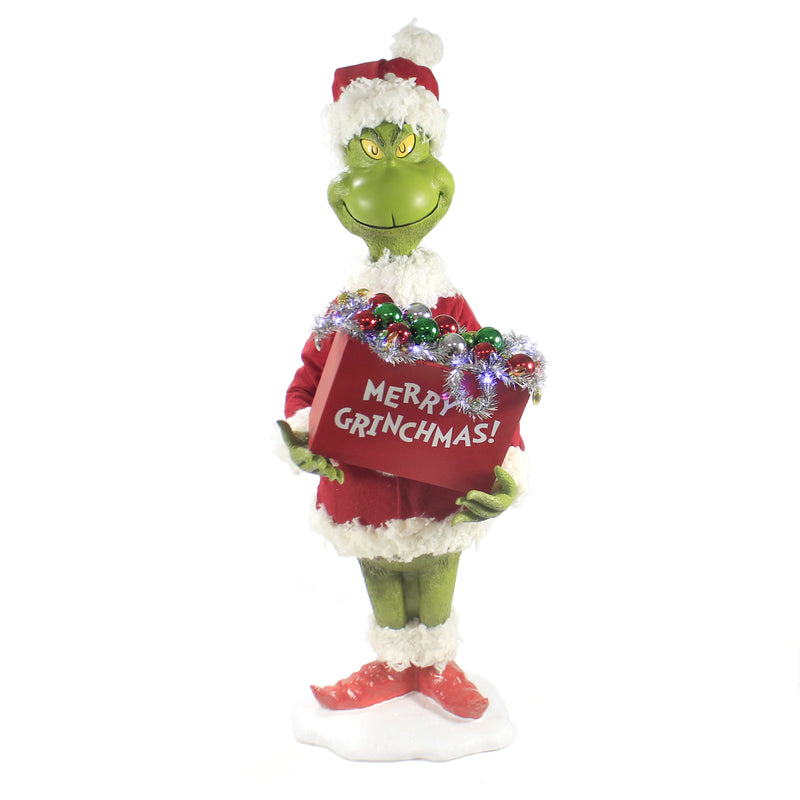 Possible Dreams MERRY GRINCHMAS Polyresin Grinch Heart Story 6003412