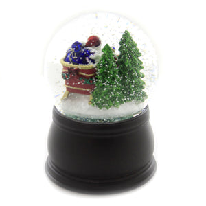 Old World Christmas SANTA IN SLEIGH SNOW GLOBE Snow Blower Christmas 54014