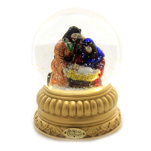 Old World Christmas HOLY FAMILY SNOW GLOBE Glass Nativity Christmas 54000