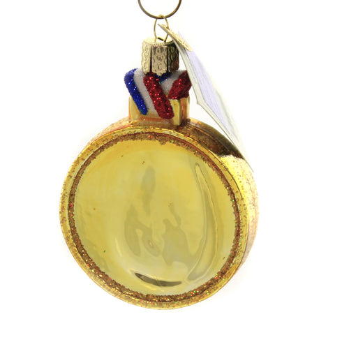 Old World Christmas GYMNASTICS Glass Strength Gold Medal 44145