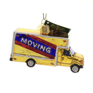 Old World Christmas MOVING TRUCK Glass Box Cross Country Move 46082