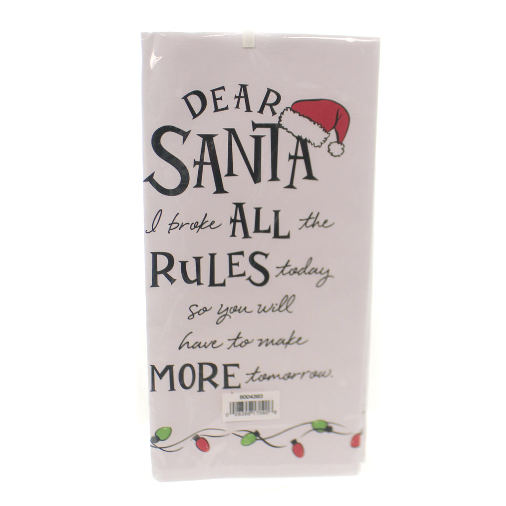 Christmas DEAR SANTA ALL THE RULES Cotton Tea Towel 6004393