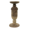 Home Decor ACORN CANDLE HOLDER. Polyresin White Washed Fall 41354A2