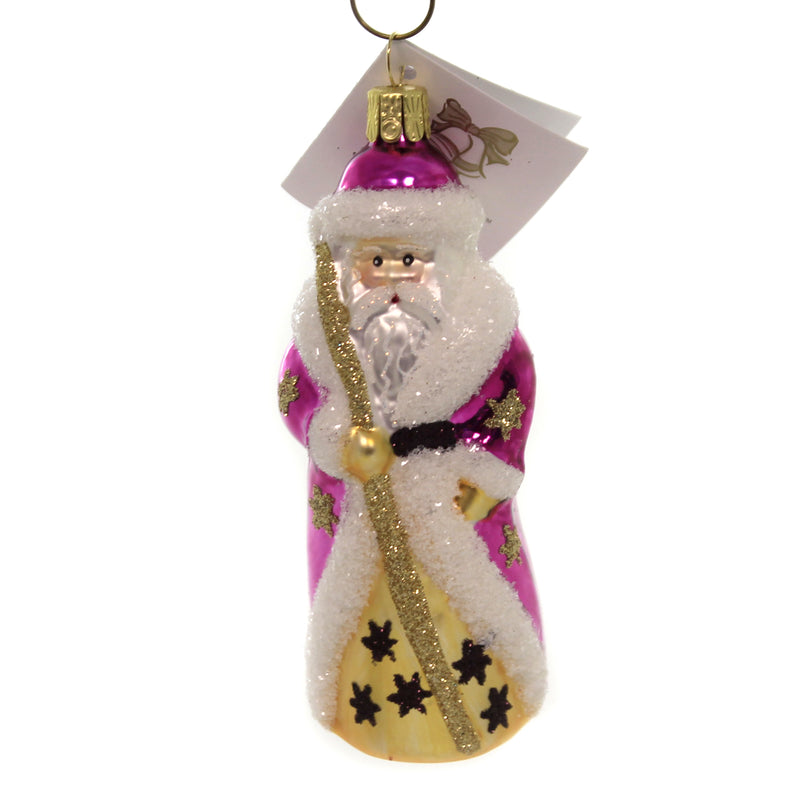 Golden Bell Collection RUSSIAN STYLE SANTA W/LONG COAT Christmas Ornament St220 Pink