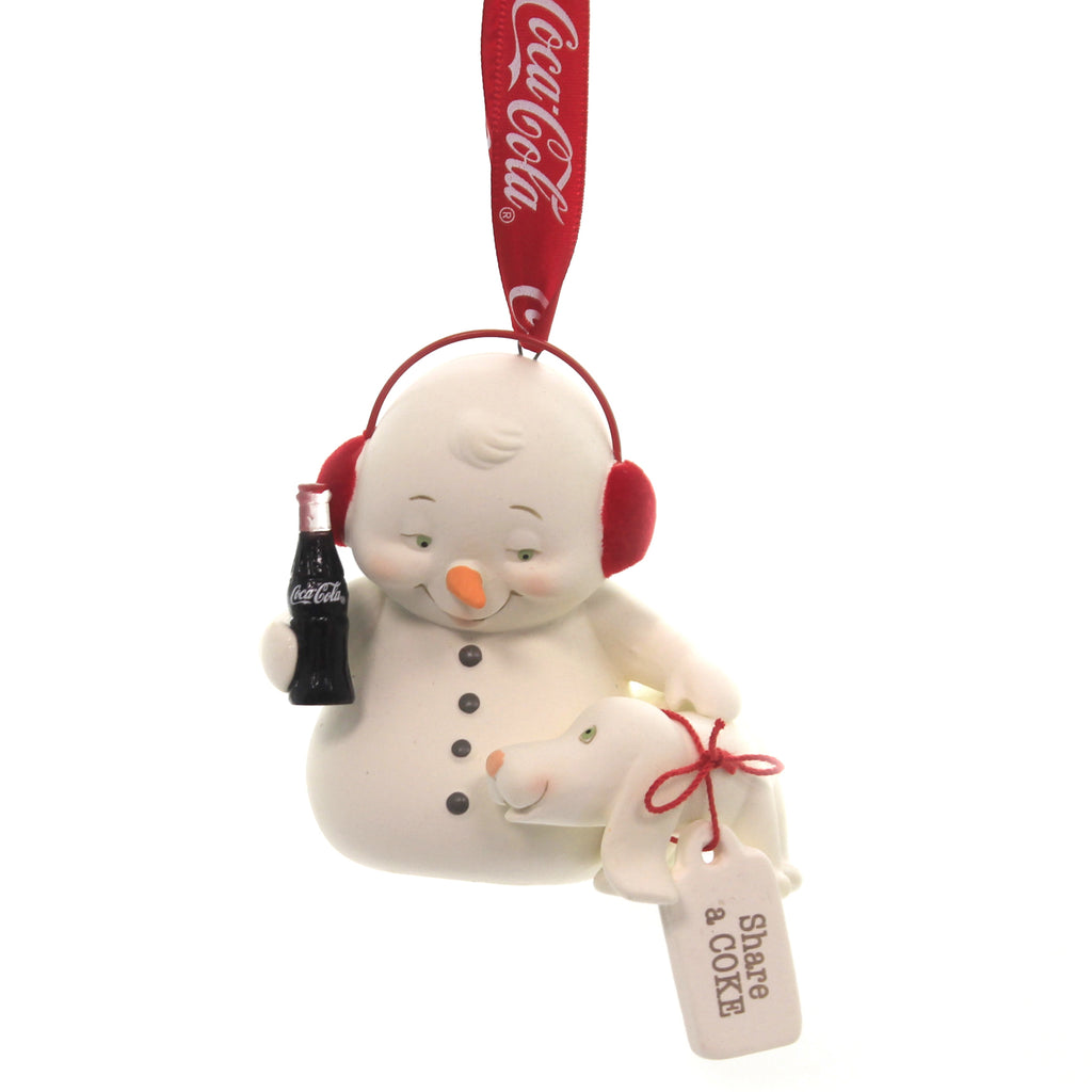 Holiday Ornaments SHARE A COKE SNOWPINION Porcelain Department 56 6003258