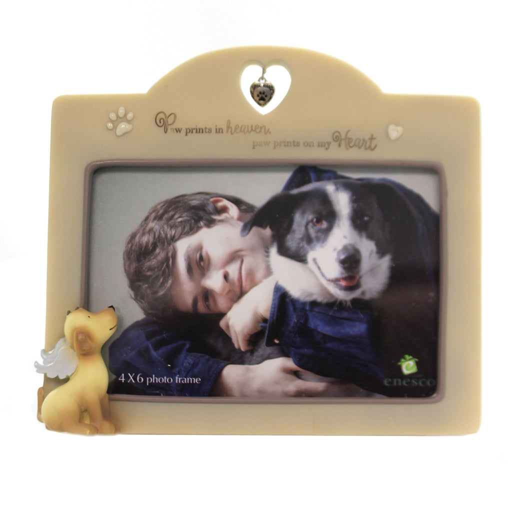 Foundations DOG BEREAVENMENT PHOTO FRAME Glass Paw Prints 6004083