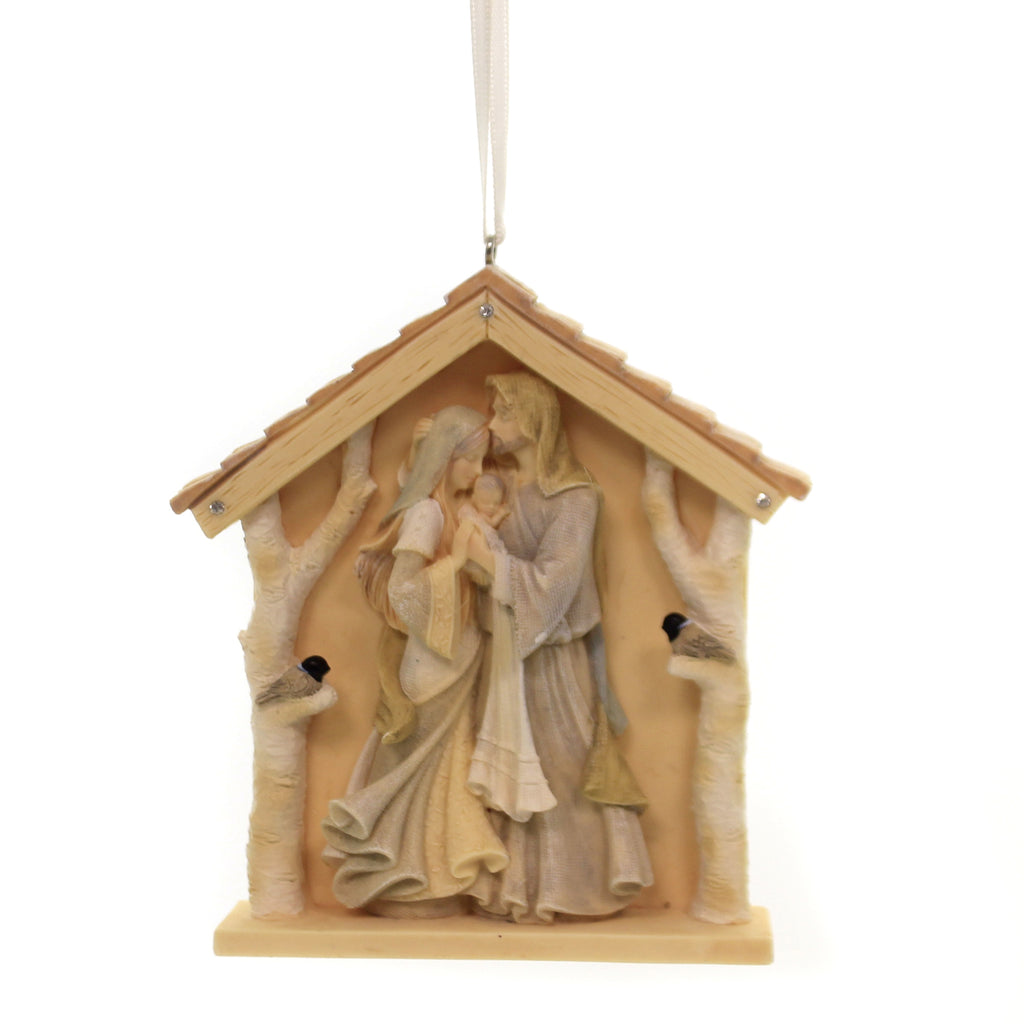 Holiday Ornaments NATURE'S NATIVITY Polyresin Heart Of Christmas 6003911