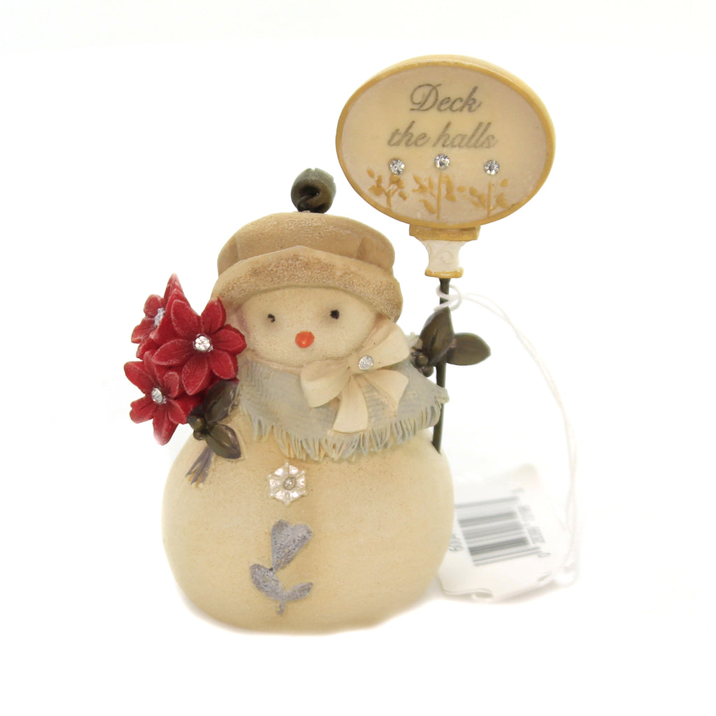 Christmas DECK THE HALLS SNOWMAN Polyresin Heart Of Christmas 6004117