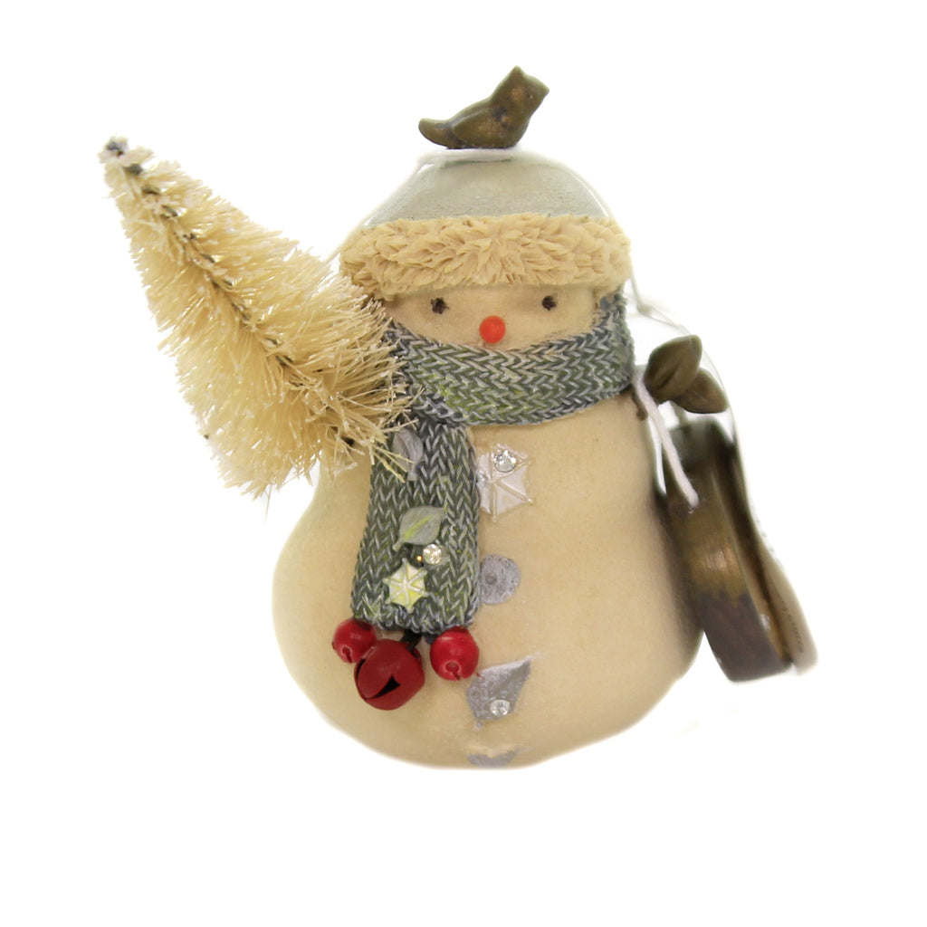 Christmas MERRY CHRISTMAS SNOWMAN Polyresin Tree Bird Heart 6004118