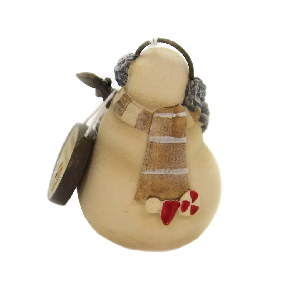Christmas HAPPY HOLIDAYS SNOWMAN Polyresin Heart 6004119