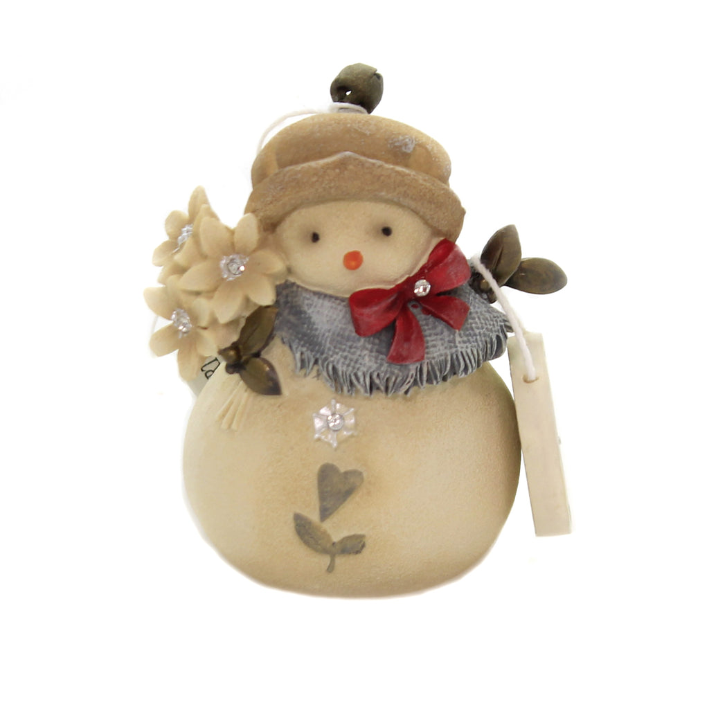 Christmas DASHING IN THE SNOW SNOWMAN Polyresin Heart Of Christmas 6004120