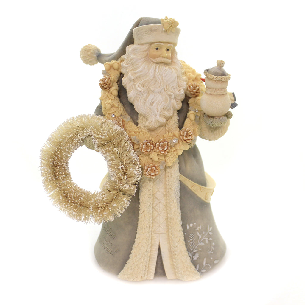 Christmas SANTA IN THE MEADOW Polyresin Heart Of Christmas 6003908