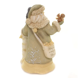 Christmas SANTA'S WOODLAND FRIENDS Polyresin Heart Of Christmas 6003909